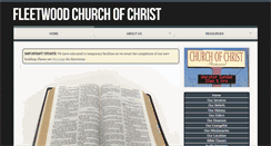 Preview of fleetwoodchurchofchrist.org