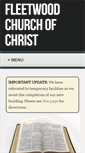 Mobile Preview of fleetwoodchurchofchrist.org