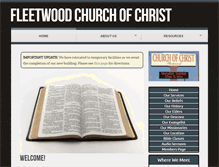 Tablet Preview of fleetwoodchurchofchrist.org